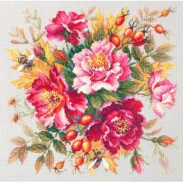 MN 140-002  Zestaw do haftu - Magiczne kwiaty - róże