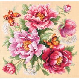 MN 140-001 Zestaw do haftu - Magiczne kwiaty - piwonie