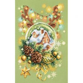 MN 100-245 Zestaw do haftu - Rozświetlone Święta
