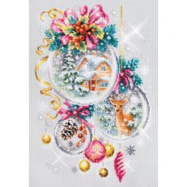 MN 100-247 Zestaw do haftu - Świąteczna opowieść