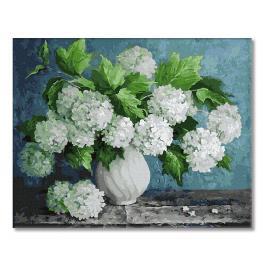 GX29093 Malowanie po numerach - Bukiet białych hortensji