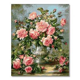 PC4050309 Malowanie po numerach - Bukiet róż