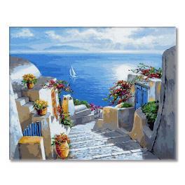 PC4050225 Malowanie po numerach - Schody do morza