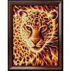 M AZ-1849 Zestaw do diamond painting - Płonący lampart