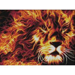 M AZ-1851 Zestaw do diamond painting - Płonący lew