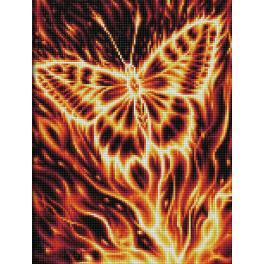 M AZ-1854 Zestaw do diamond painting - Płonący motyl