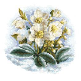 ZI 10306 Zestaw do haftu z muliną i koralikami - Zimowy kwiat