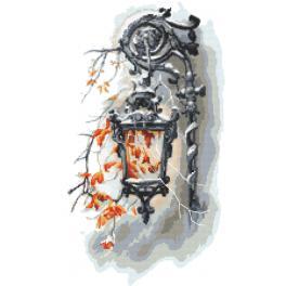 ZN 10447 Zestaw do haftu z nadrukiem - Stara latarnia