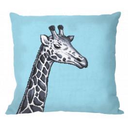 ZU 10657-01 Zestaw do haftu - Poduszka - Czarno-biała żyrafa