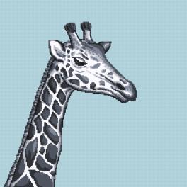 Z 10657 Zestaw do haftu z muliną - Czarno-biała żyrafa