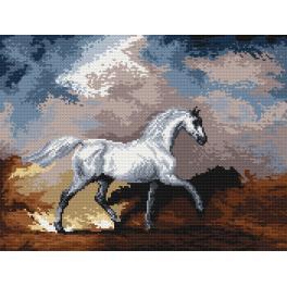 K 4030 Kanwa z nadrukiem - Konie w Burzy - S. Gilpin
