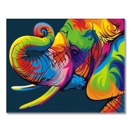GEX5330 Malowanie po numerach - Tęczowy słoń
