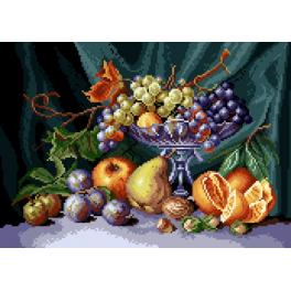 GC 7081 Wzór graficzny - Martwa natura - patera z owocami