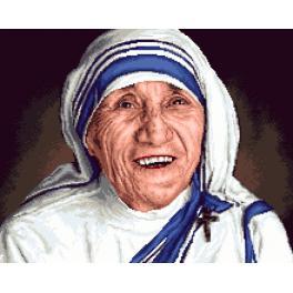 K 7315 Kanwa z nadrukiem - Matka Teresa