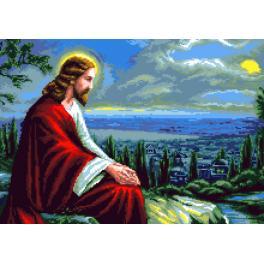 K 7314 Kanwa z nadrukiem - Jezus Chrystus