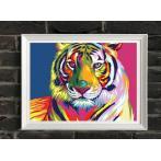 SI Ms7902 Malowanie po numerach - Tęczowy tygrys