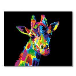 SI Ms9431 Malowanie po numerach - Tęczowa żyrafa