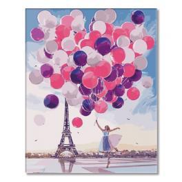 SI Ms7544 Malowanie po numerach - Dziewczynka z balonami