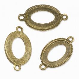 Baza medalionu owalna brąz