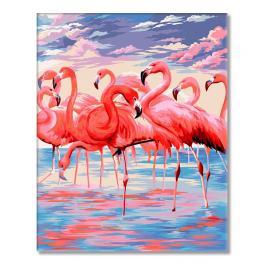 WD H112 Malowanie po numerach - Różowe jezioro