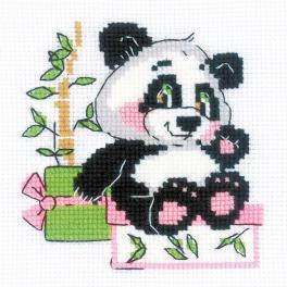 RIO 1883 Zestaw do haftu z włóczką - Prezent pandy