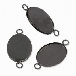 Baza medalionu owalna grafit