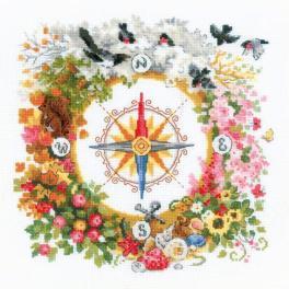 RIO 1881 Zestaw do haftu z włóczką - Kompas