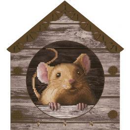 NKO 4044 Zestaw do haftu z podmalowanym tłem - Myszka