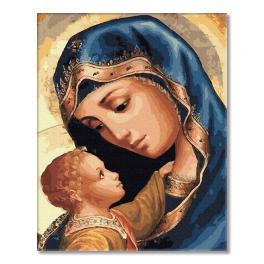 PC4050497 Malowanie po numerach - Dziewica Maryja i Jezus