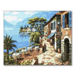PC4050139 Malowanie po numerach - Cafe na wybrzeżu