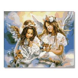 PC4050129 Malowanie po numerach - Dwa Anioły