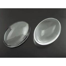 Kaboszon szklany owal