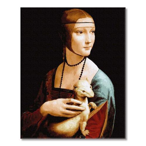 PC4050684 Malowanie po numerach - Dama z gronostajem, L. da Vinci