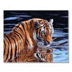 PC4050652 Malowanie po numerach - Tygrys i woda