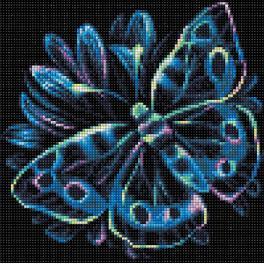M AZ-1713 Zestaw do diamond painting - Neonowy motyl