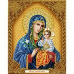 M AZ-5039 Zestaw do diamond painting - Ikona - Madonna, kwiat który nie więdnie