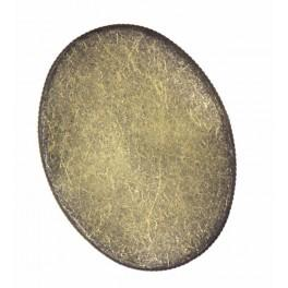 Baza broszki owalna brąz 30x40mm