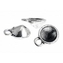 Oprawa do kryształków kolor srebrny 8mm