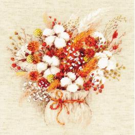 RIO 1913 Zestaw do haftu z włóczką - Bukiet z bawełną