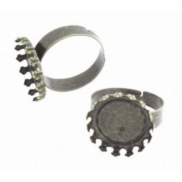 Baza pierścionka brąz 16mm