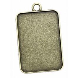 Baza medalionu prostokąt brąz 23x33mm