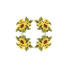 W 10450 Wzór graficzny ONLINE pdf - Obrus ze słonecznikami