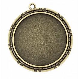 Baza medalionu okrągła brąz antyczny 40mm