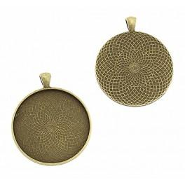 Baza medalionu okrągła brąz 40mm