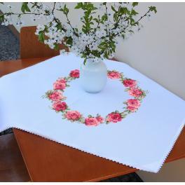 ZU 10449 Zestaw do haftu - Obrus z różami