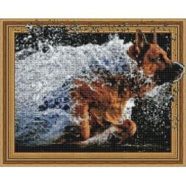 5PD4050043 Zestaw do diamond painting - Radość psa