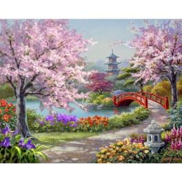 ZTDE 7110 Zestaw do diamond painting - Japoński ogród