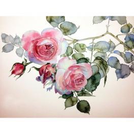 ZTDE 7093 Zestaw do diamond painting - Gałązka róży