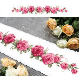 ZU 10448 Zestaw z muliną - Długi bieżnik z różami