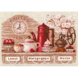 RIO 1874 Zestaw do haftu z włóczką - Czas na kawę